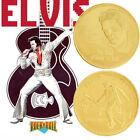 Elvis Presley 1935-1977 The King of N Rock-Roll Gold Art Commemorative Coin