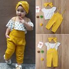 USA Toddler Kid Baby Girl Clothes Off Shoulder T-shirt Tops Leggings Outfits Set
