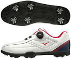 Mizuno Japan Golf Shoes Lite Style 003 Boa Wide Soft Boots 51GM1960 White Navy