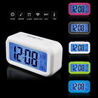 Digital Alarm Clock LCD LED Light Snooze Backlight Digit Time Date Thermomete UE