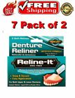 Reline-It Zinc Free Denture Reliner (7 Pack of 2) w