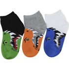Stride Rite 3-Pack Bite Animal Face Assorted Crew Socks