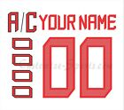 IIHF Team Canada Customized Number Kit for 2018 White Hockey Jersey