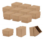 Sdootjewelry 50 Packs Kraft Paper Jewelry and Retail Boxes, Mache Earring Boxes,