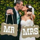 Wedding decorations Mr and Mrs Chair Signs for Wedding Party Photo Booth Banner