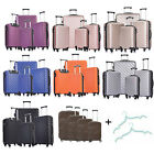 Set of 3/4/5 Travel Luggage Sets Carry On Hardshell ABS Spinner Trolley Suitcase