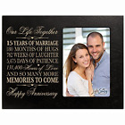 Fifteen year anniversary gift her him couple Engraved 15th year wedding for wife