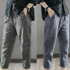 Men's Cotton& Linen Pencil Pants Hot Summer Loose Casual Bloomers Trousers