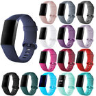 For Fitbit Charge 3 Watch Band Replacement Silicone Diamond Bracelet Wrist Strap image