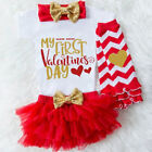 Kyпить US Baby Girl 1st Valentine's Day Tops Romper Tulle Skirt Headband Outfit Clothes на еВаy.соm