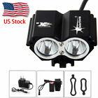 4 Mode 10000LM SolarStorm 2x T6 LED Front Bicycle Light Bike Headlamp Headlight