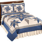 Reversible Navy Star Patchwork Quilt, by Collections Etc image