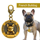 Personalised Dog Tags 18 Breeds 3D Patterns Pet Dog Name ID Collar Free Engraved