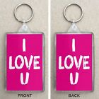 I love U Large Key Ring / Key Fop Valentine