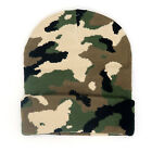 Beanie Hat Mens Camouflage Knit Ski Cap Warm Military Tactical Winter Thermal