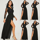 Women Lace Evening Party Ball Prom Gown Formal Cocktail Wedding Long Dress Usa