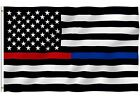 Thin Blue Line Police Fire Fighter USA American Flag 3X5 FADE Resistant NEW