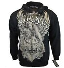 Silver Star Mens L Large Sweatshirt Hoodie Sweater Zip Up UFC MMA Jacket NEW