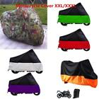 180T Motorcycle Cover Waterproof Outdoor Sport Rain Dust UV Protector Extra Lar