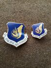 Vietbam War US Air Force Pacific Air Forces Badge Insignia Pin Set