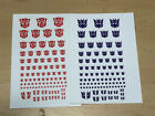 Transformers G1 Decepticons /Autobots  90+ Symbol Sticker Decal For Custom COOL For Sale