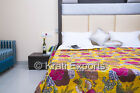 Indina Handmade King Size Kantha Quilt Cotton Bedspread Bedding Bed Cover Throw