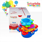 Stacking Cups Set for Babies and Toddlers - 8 sea Animals to Play in Sand &