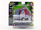 1959 Cadillac Ecto-1A Ambulance with Firehouse Exterior Diorama from Ghostbuster