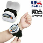 Wrist Blood Pressure Monitor, Heart Rate Tester Checker BP Cuff Machine w/ Case