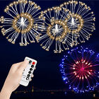 Valentine Surprise 198 LED DIY Remote Fireworks Fairy Party lamp Lights Gifts