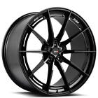 "4New 22"" Staggered Savini Wheels SV-F1 Gloss Black Rims FS"