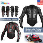 Motorcycle Full Body Armor Jacket Motocross Racing Spine Chest Protective Gear
