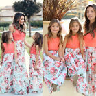 Mommy and Me Family Matching Dress Mother Daughter Floral Holiday Maxi Dress фото