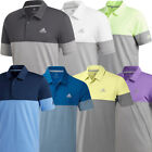 Adidas Golf 2019 Mens Ultimate 2.0 Heather Blocked Short Sleeve Polo Shirt
