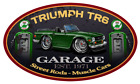 Triumph TR6 Sports Car Garage Sign Wall Art Graphic Sticker $19.0 USD on eBay