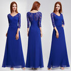 Ever-Pretty Long Lace Sleeve Bridesmaid Dresses Elegant Evening Prom Gown 08861