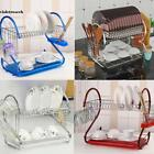 2-Tier Multi-function Stainless Steel Dish Cup Drying Rack,Cup Drainer Strainer