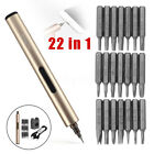 22In1 Mini Electric Screw Driver Rechargeable Cordless Powerful Pen Repair Tool