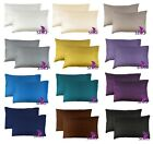 1 PAIR: 100% MULBERRY 25 momme Silk (2 faces) Pillowcase cover STANDARD 50x66cm image
