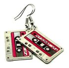 Cassette Tape 80s 90s Retro Set Disco Pop Pendant Chain Necklace Earring Choice
