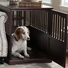 Dog Crate End Table Pet Kennel Cage Indoor Wooden Furniture Wood Brown House