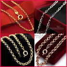 9k Gold Filled Womens Ladies Solid Belcher Rings Links Chain Dress Necklace Gift