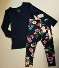 Wonder Nation *2 PACK* Floral Legging Navy Tunic Shirt LS S M L XL NWT FAST