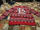 st, louis cardinal sweater, med,