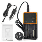 4 /10 X 3.7V 4000mAh Rechargeable Battery and Charger AU For Headlamp Flashlight