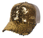 Top Headwear Two Tone Sequin Fancy Baseball Cap