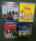 Blue Ray Movie Lot of 4 The Heat, The Help, Fast and Furious 6, Striped Pajamas