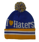 Unisex State Property I Love Haters Knitted Bobble Beanie Hat One Size