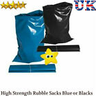 Black or Blue Extra Heavy Duty 500 Gauge Rubble Sacks Poly Bags 30KG + Strength