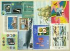 (9177) Thematic miniature 9 used sheets Gibraltar, Campodia, Coree, Romania etc